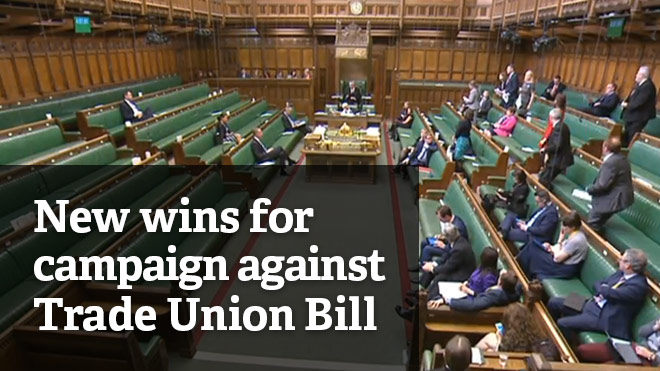 Union campaign scores win with changes made to Trade Union Bill