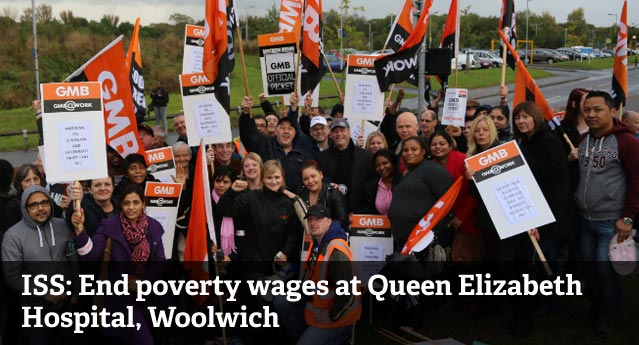 ISS: End poverty pay at QE Hospital, Woolwich