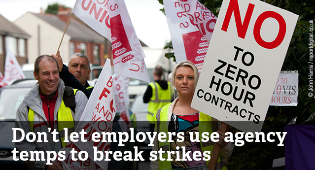 Don't let employers use agency temps to break strikes