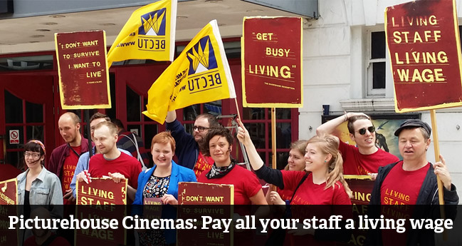 Picturehouse Cinemas: Pay all your staff a living wage